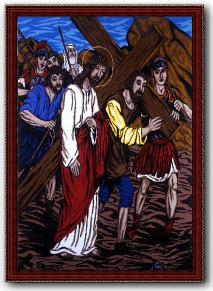Ілюстрації - світлини вишиваної Хресної дороги подружжя Ликтеїв з Тернопільщини